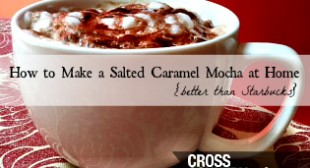Keurig K-cup Coffee Recipe-Salted Caramel Mocha