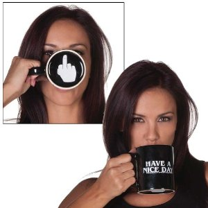 Have a Nice Day Surprise Middle Finger Coffee Mug