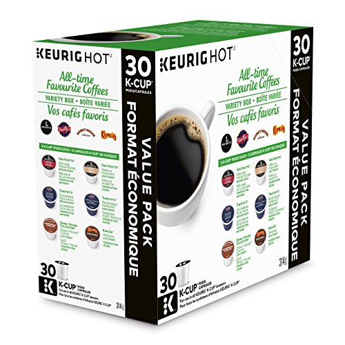 Keurig All-Time Favorite Coffees Variety Box K-Cup Single Serve K-Cup pods for Keurig brewers, 30 Count
