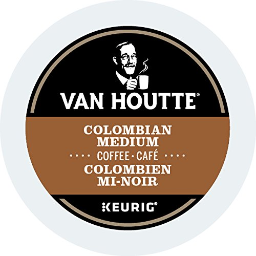 Van Houtte Colombian Medium Single Serve K-Cup pods for Keurig brewers, 30 Count
