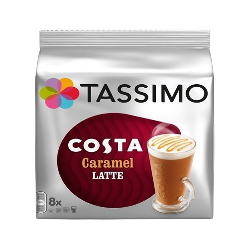 Tassimo Costa Caramel Latte 16 discs, 8 servings