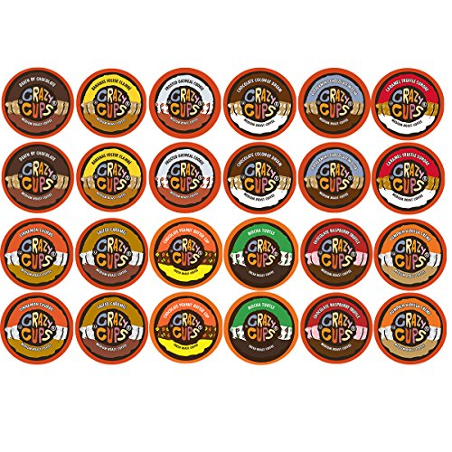 Crazy Cups Chocolate and Flavor Lovers Coffee Variety Sampler for The Keurig K Cup Brewer, 48-Count