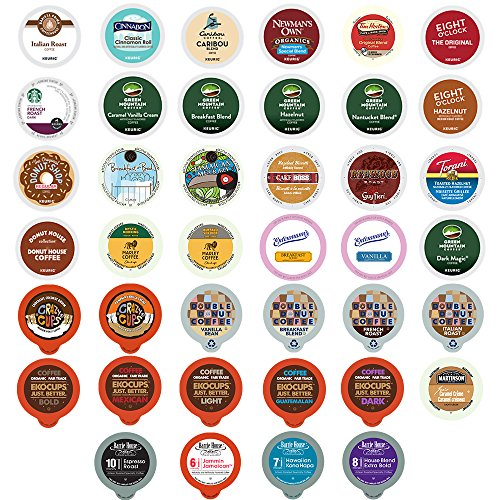 Crazy Cups Coffee Variety Sampler Pack for Keurig K-Cup Brewers, 40-Count