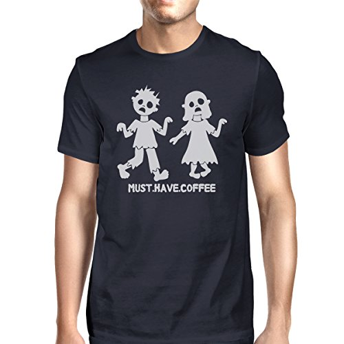 365 Printing Must Have Coffee Zombies Mens Halloween Tshirt Funny Graphic Tee