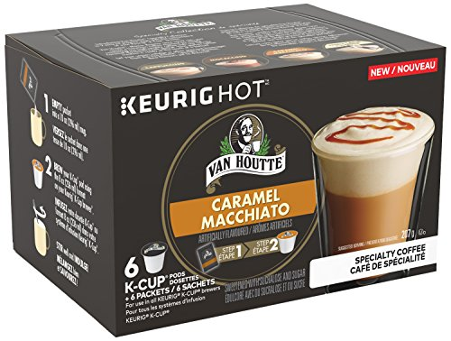 Van Houtte Specialty Collection Caramel Macchiato Single Serve K-Cup pods for Keurig brewers, 6 Count