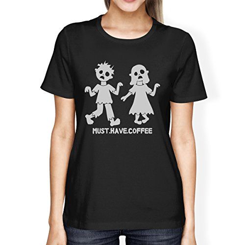 365 Printing Must Have Coffee Zombies Womens Halloween Tshirt Funny Graphic Tee