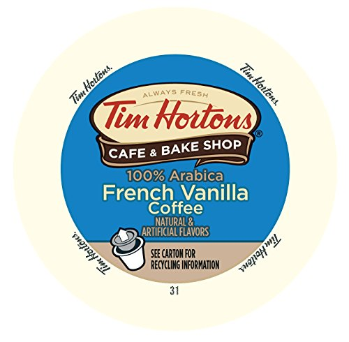 Tim Horton's French Vanilla Blend Coffee Capsule, Compatible with Keurig K-Cup Brewers, 24-Count
