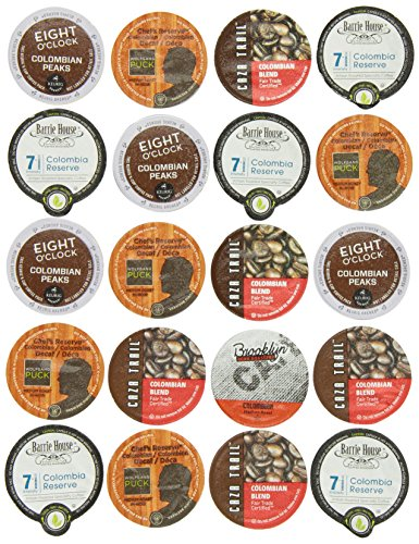Crazy Cups Colombian Gift Sampler, Single-Cup Coffee Pack Sampler for Keurig K-Cup Brewers, Pack of 20