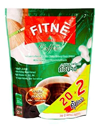 FITNE COFFEE INSTANT COFFEE MIX WITH WHITE KIDNEY BEAN EXTRACT 15G. PACK 20SACHETS