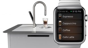 Apple Watch Controlled Coffee Machine