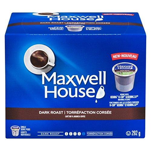 MAXWELL HOUSE Dark Roast Coffee Pods, 292g, 30 Count