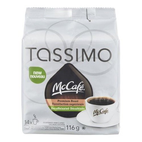 TASSIMO MCCAFE Premium Roast Decaffeinated Coffee 116G