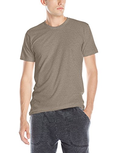 American Apparel Men's Blend Short Sleeve Track Shirt, Tri-Coffee, Large