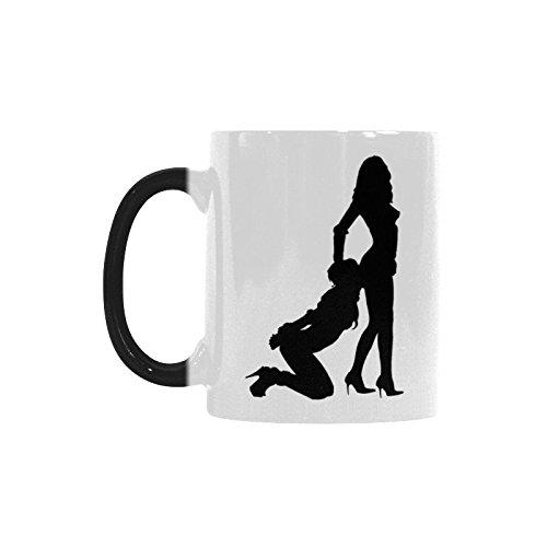 Funny Sexy Woman Silhouette on Mug Color Changing Mug Cup Coffee Mug – Best Gift for Birthday,Christmas or New Year