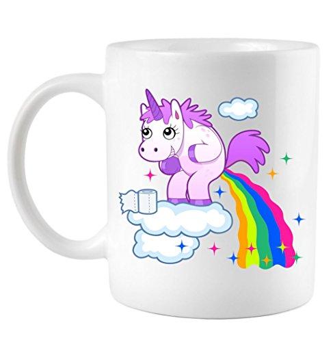 Coffee Mug: Unicorn Pooping A Rainbow 11 oz