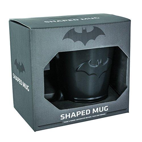 Official DC Comics Black Batman Bat Symbol Logo Shaped Coffee Mug – Boxed