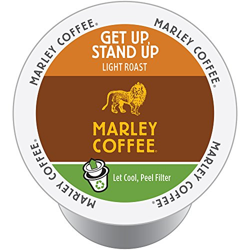 Marley Coffee Get Up, Stand Up Organic Light Roast, 24 Count, compatible with Keurig K-Cup Brewers