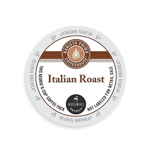 Barista Prima Coffeehouse Dark Roast Extra Bold K-Cup for Keurig Brewers Italian Roast Coffee 96-count