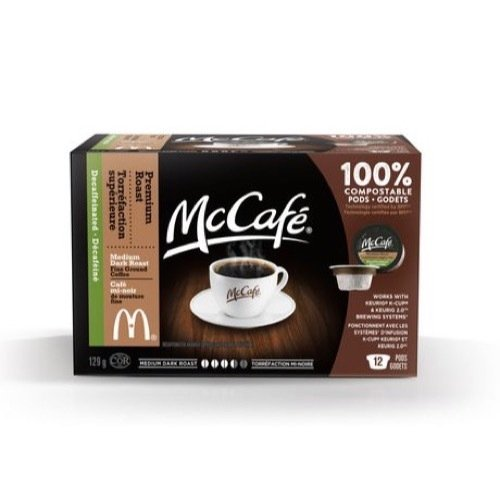 MCCAFE Premium Roast Decaffeinated Coffee PODs 129G