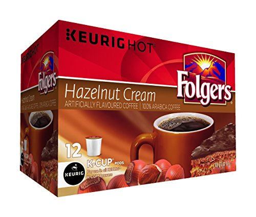 Folgers Hazelnut Cream Coffee K-Cup Pods, 12 K-Cups