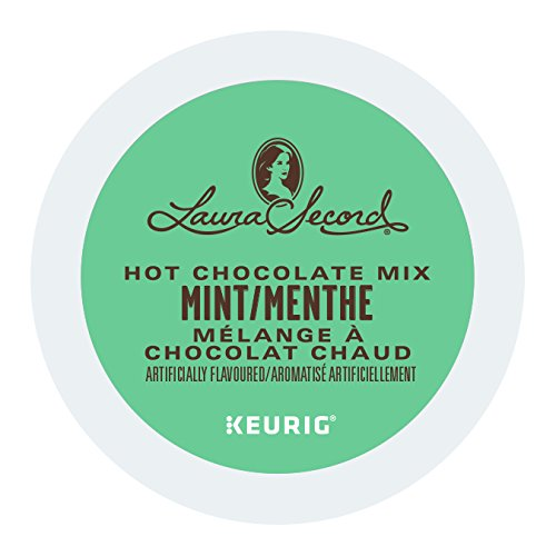 Laura Secord Mint Hot Chocolate Single Serve Keurig Certified K-Cup pods for Keurig brewers, 12 Count
