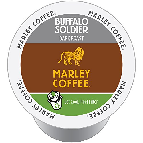 Mother Parkers Marley Coffee Buffalo Soldier Real Cup Capsule, Compatible with Keurig K-Cup Brewers, 24-Count