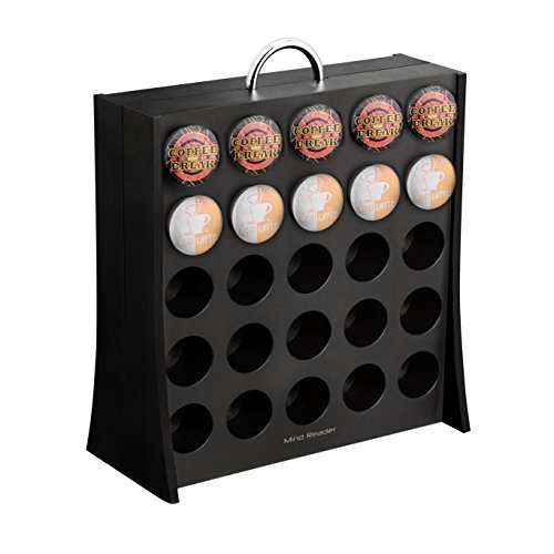 Mind Reader RAC3PC-BLK The Wall K-Cup Coffee Pod Display Rack Holder, 50 Capacity, Black