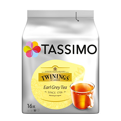 Tassimo Twinings Earl Grey Tea 16 Capsules (Pack of 4)