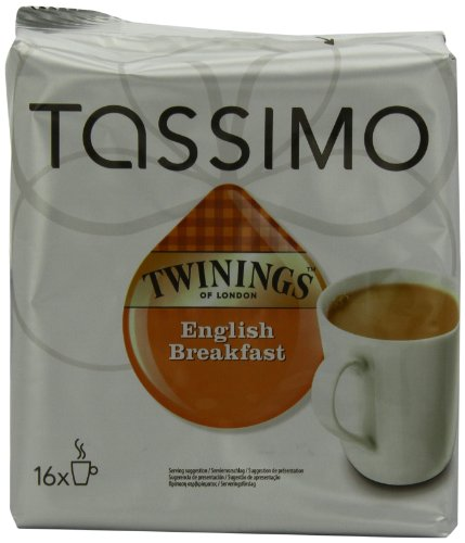 Twinings English Breakfast Tea, 16 Count T-Discs for Tassimo Coffeemakers