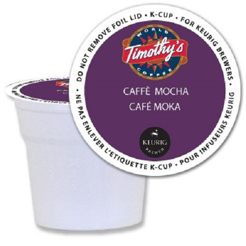 Timothy's World Coffee Caffè Mocha K-Cups for Keurig Brewers 24 Count