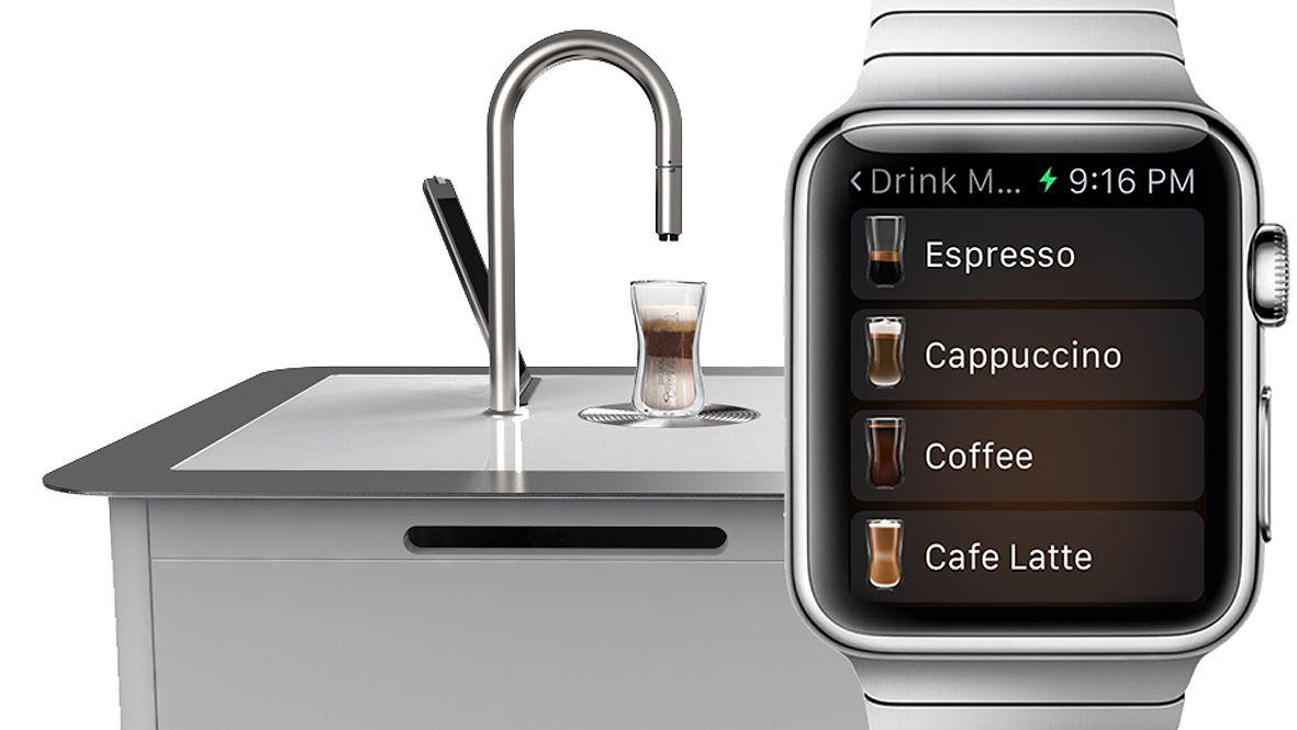 Apple Watch Controlled Coffee Machine