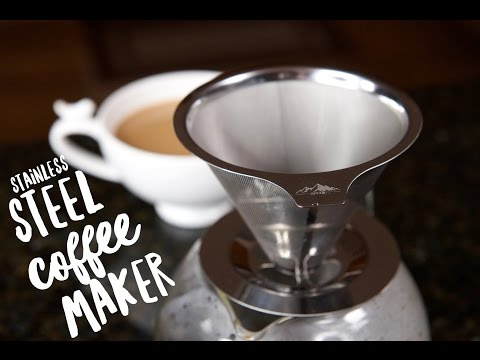No More Plastic in Your Coffee!  Stainless Steel Pour Over Coffee Dripper Review