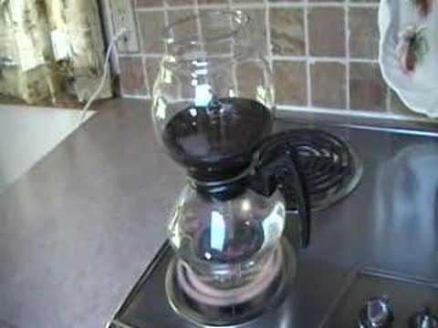 Vintage Cory Vacuum Coffee Pot Brewing Demo