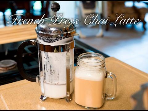 French Press Chai Latte