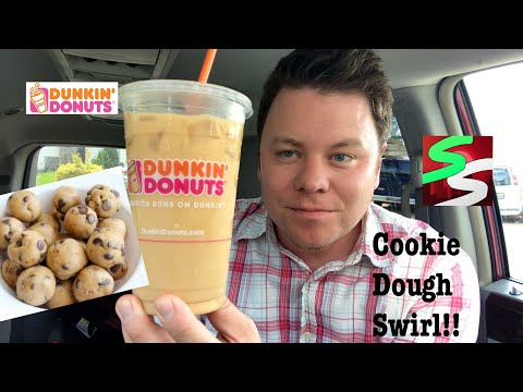 Dunkin' Donuts Cookie Dough Swirl Iced Coffee review!!