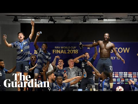 French players invade Didier Deschamps's press conference