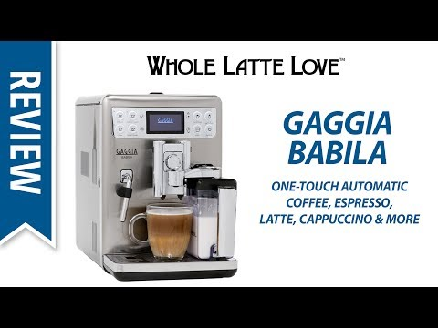 Review: Gaggia Babila Bean to Cup Coffee & Espresso Machine