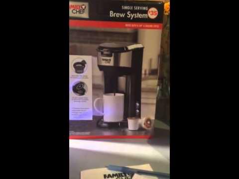 Demo of family chef single serve coffee maker