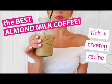 FOR REAL THE BEST ALMOND MILK COFFEE (Recipe) // TessaRenéeTR