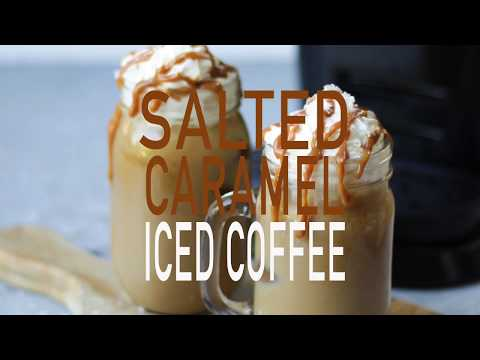 ICED COFFEE AT HOME RECIPE WITH SALTED CARAMEL | TamingTwins #AD