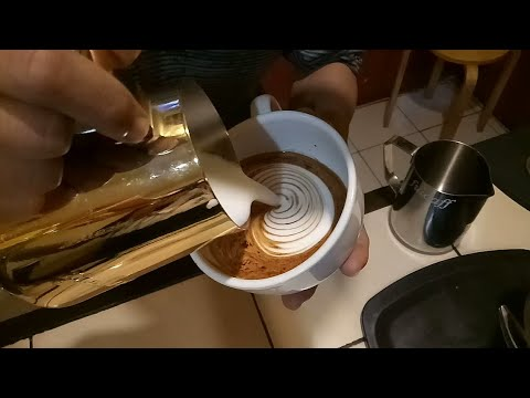 Manual Latte Art Susu Kental Manis pakai French Press Murah by Syaiful Bari Owner Fulcaff Coffee