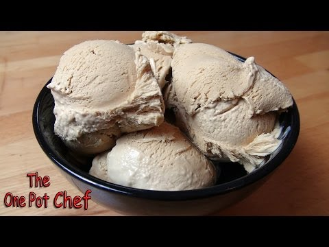 Super Simple Coffee Ice Cream | One Pot Chef