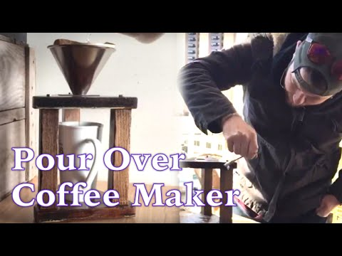 Reclaimed Wood Pour Over Coffee Maker