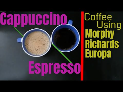 How to Operate and Make Coffee Using Morphy Richards Europa|Espresso, Cappuccino Coffee Maker