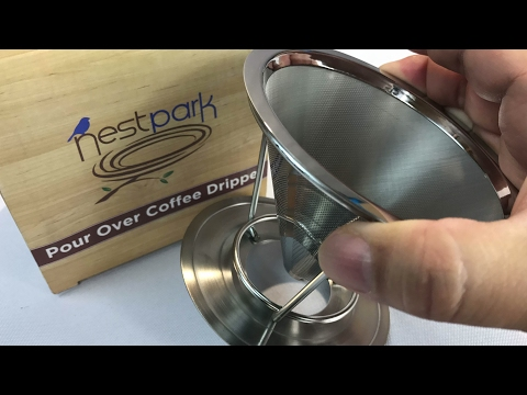 Paperless Pour Over Reusable Hand Drip Coffee Filter Cone by Nestpark