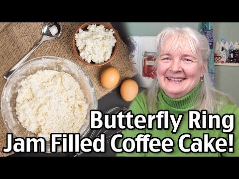 Easy Coffee Cake Recipe – Jill's Jam Filled Butterfly Ring!