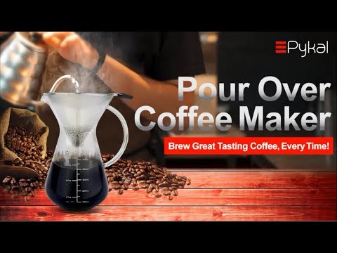 The Best Pour Over Coffee Maker Dripper 2017-2018 with Stainless Steel Filter by Pykal