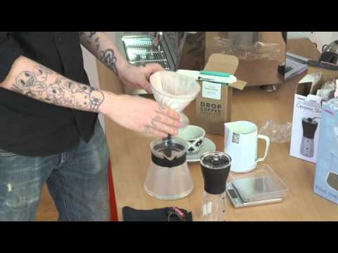 Hario Pour Over Kit – Hario Slim kvarn – Blanca Rojas från Drop Coffee
