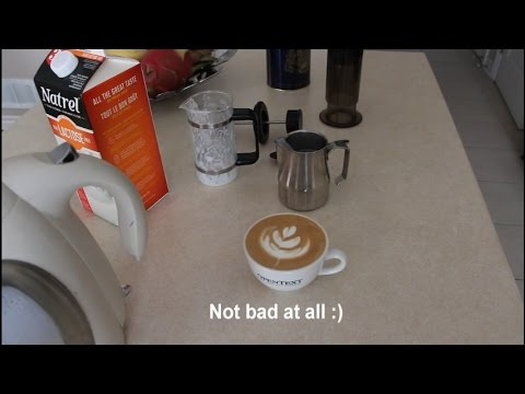 Home Latte Art with just a French Press