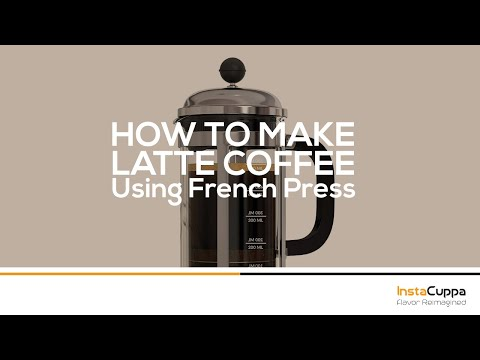 How To Make Latte Coffee Using French Press
